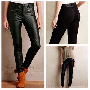Anthropologie Pilcro Leather Moto pants 29